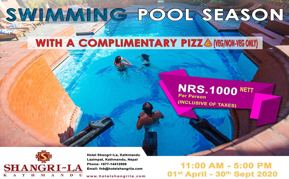 Enjoy Swimming Pool @ Hotel Shangri~La, Kathmandu